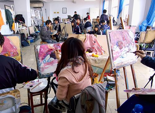 美术生第一次去艺考画室集训