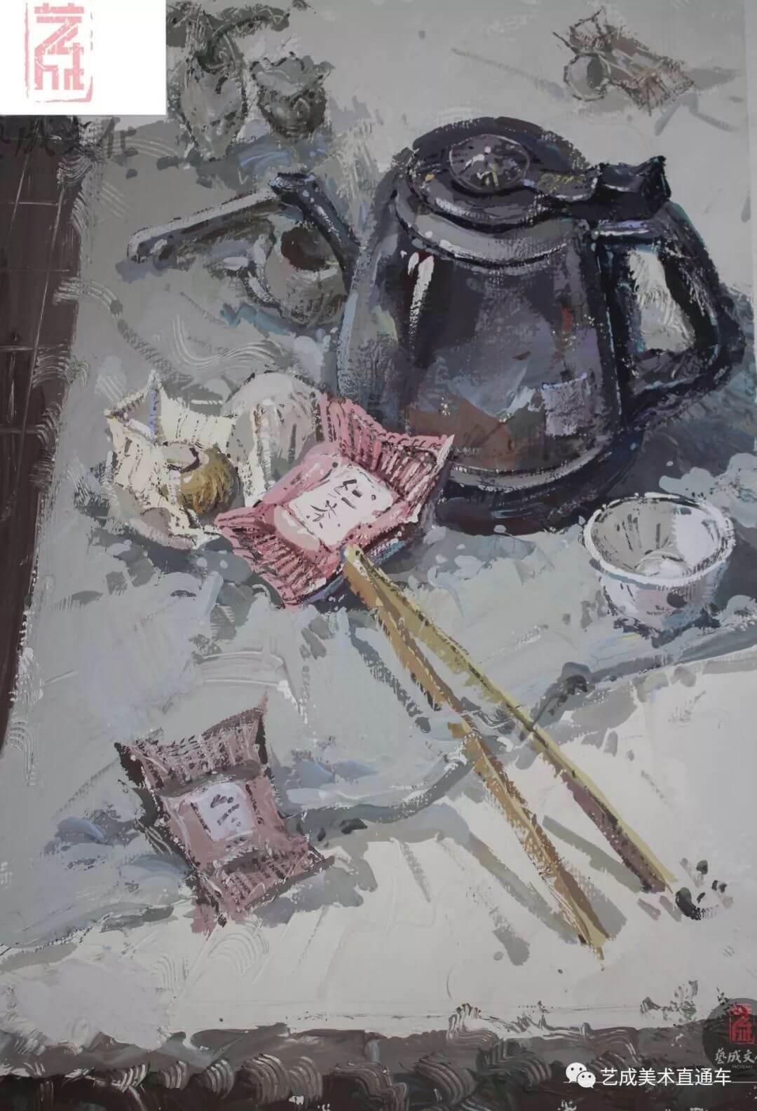 2020届艺成美术二模色彩高分卷,广州画室,广州美术培训    06