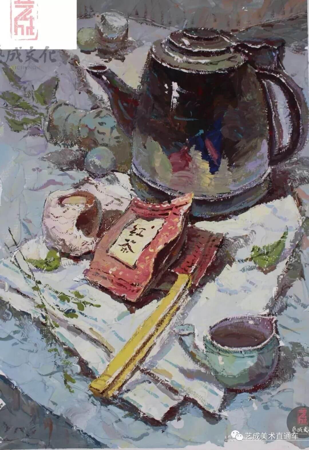 2020届艺成美术二模色彩高分卷,广州画室,广州美术培训    11