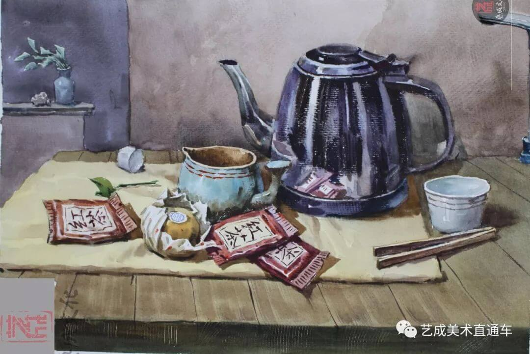 2020届艺成美术二模色彩高分卷,广州画室,广州美术培训    12