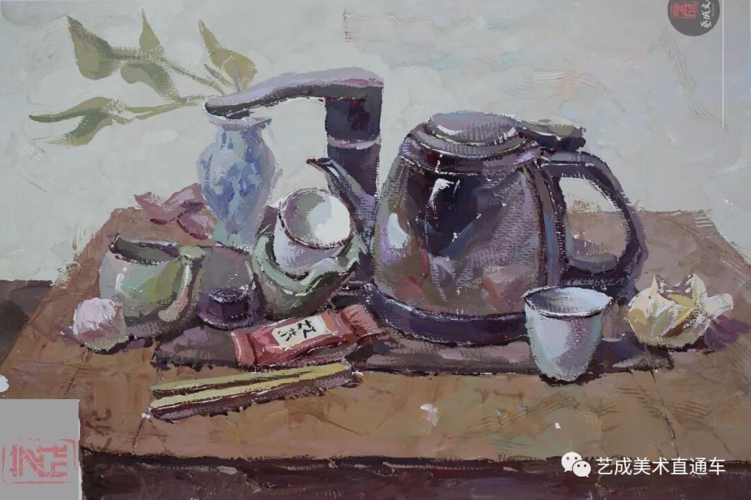 2020届艺成美术二模色彩高分卷,广州画室,广州美术培训    16