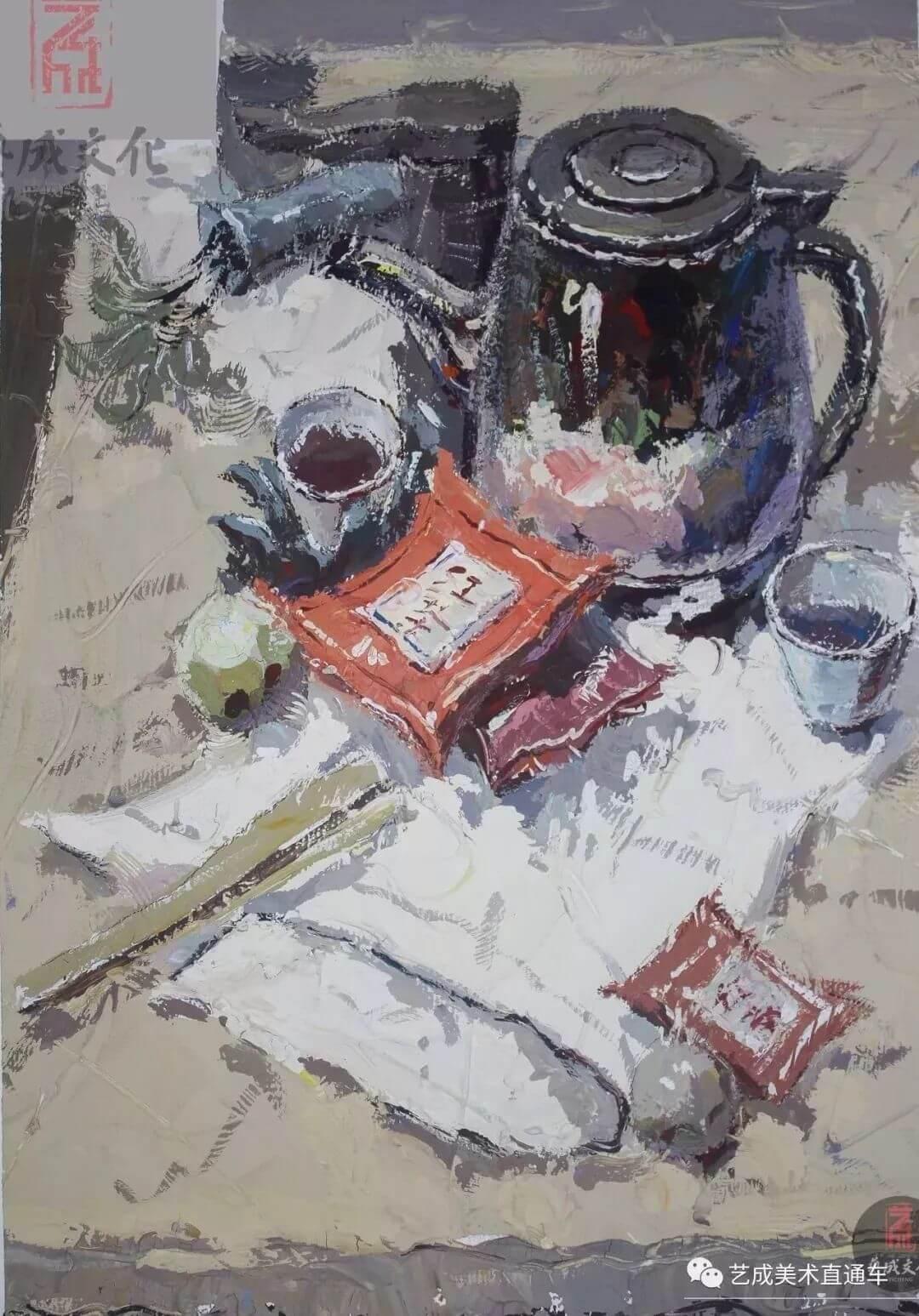 2020届艺成美术二模色彩高分卷,广州画室,广州美术培训    17