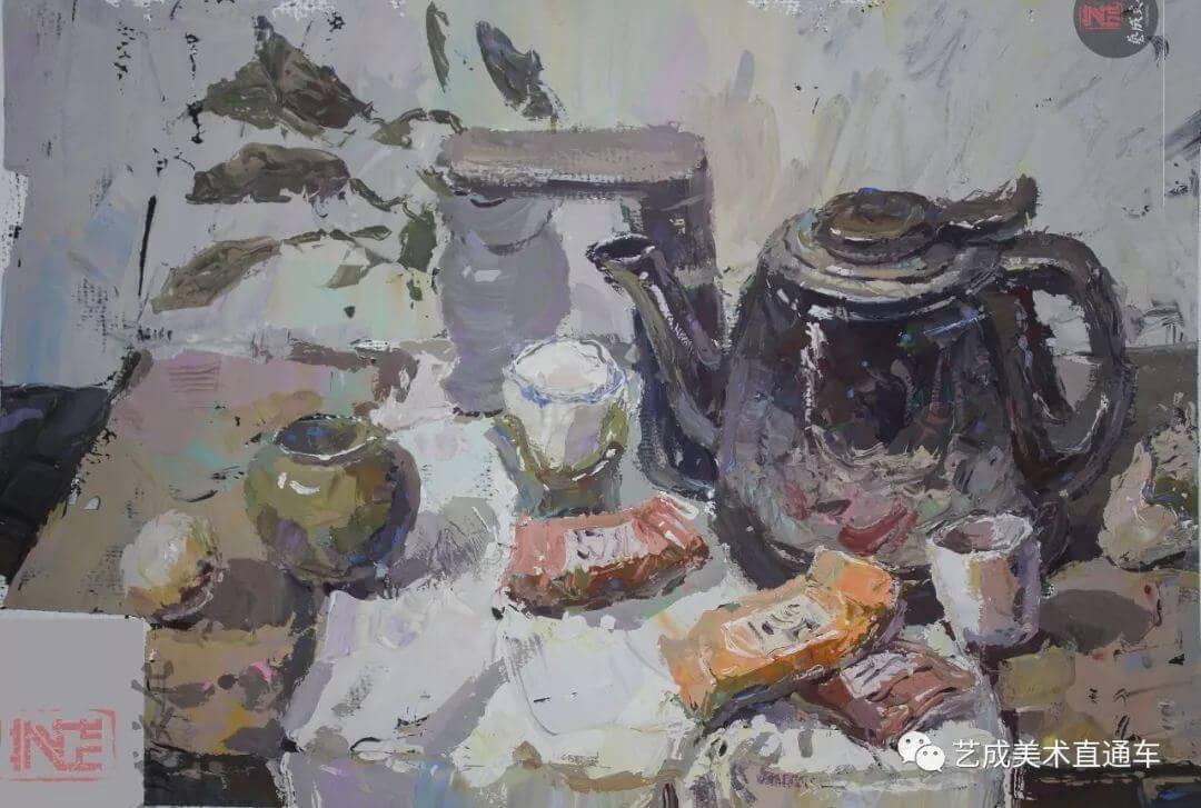 2020届艺成美术二模色彩高分卷,广州画室,广州美术培训    20