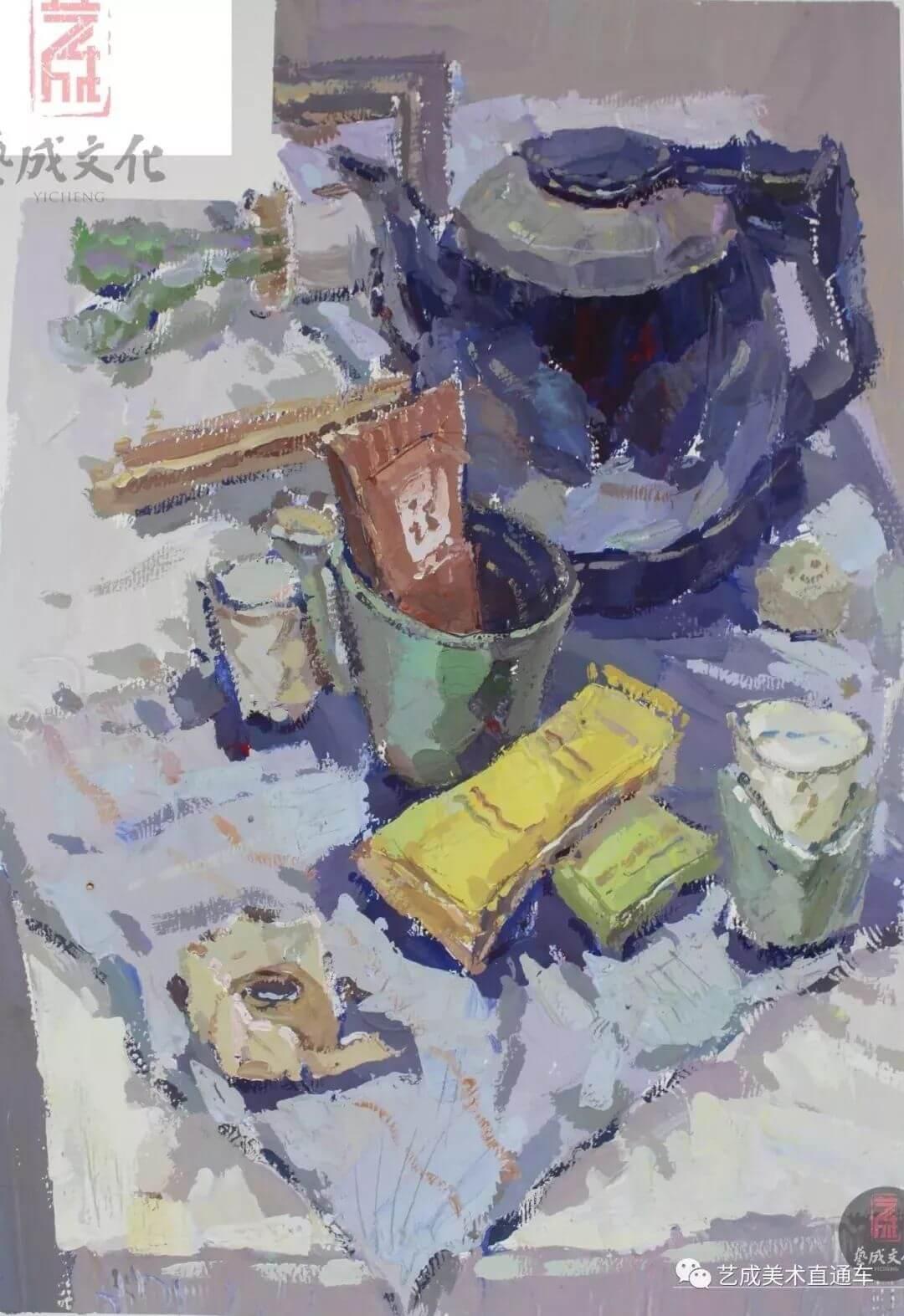 2020届艺成美术二模色彩高分卷,广州画室,广州美术培训    36