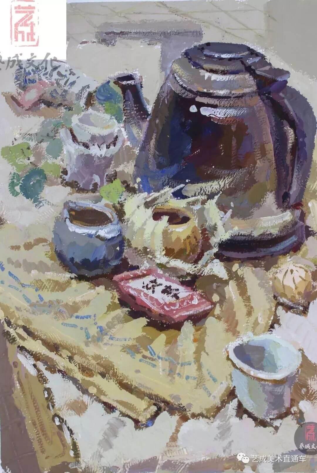 2020届艺成美术二模色彩高分卷,广州画室,广州美术培训    39