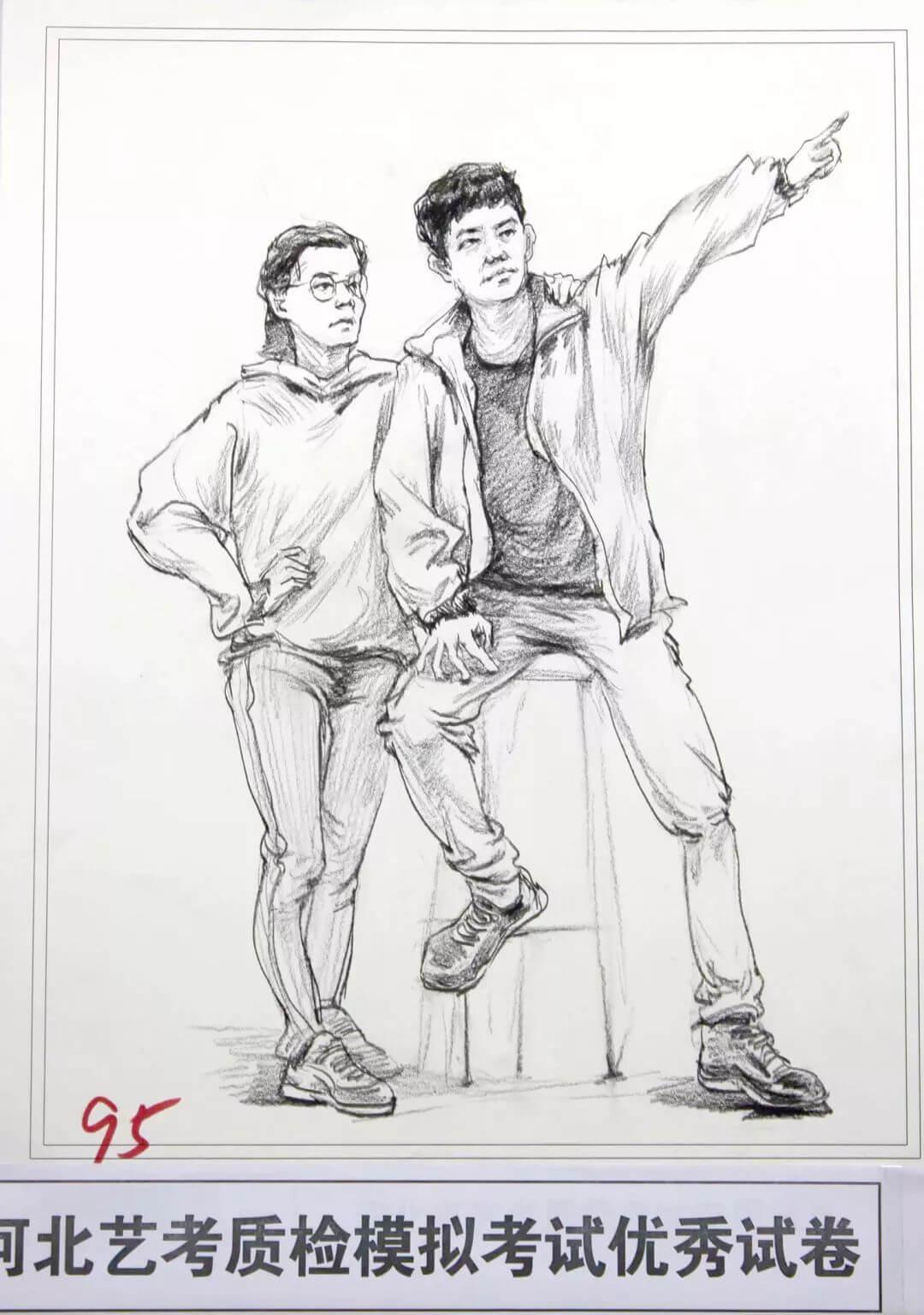 河北艺考二模高分卷精选集——速写高分卷,广州画室     02