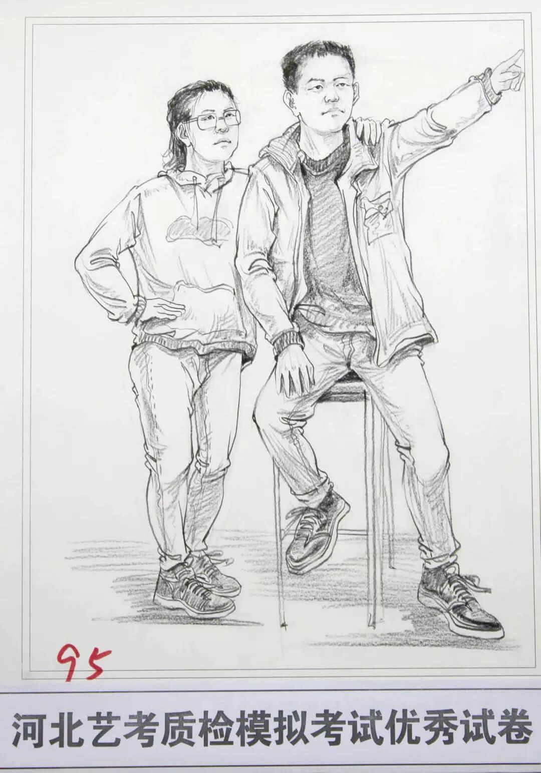 河北艺考二模高分卷精选集——速写高分卷,广州画室     03