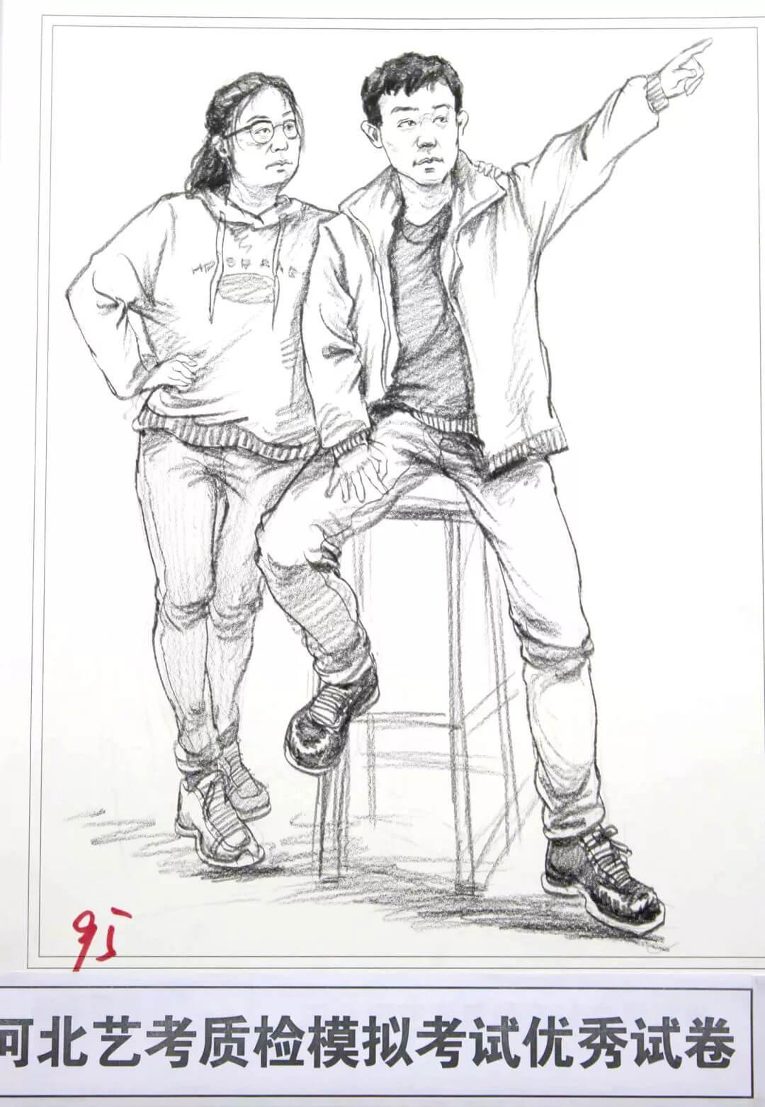 河北艺考二模高分卷精选集——速写高分卷,广州画室     05