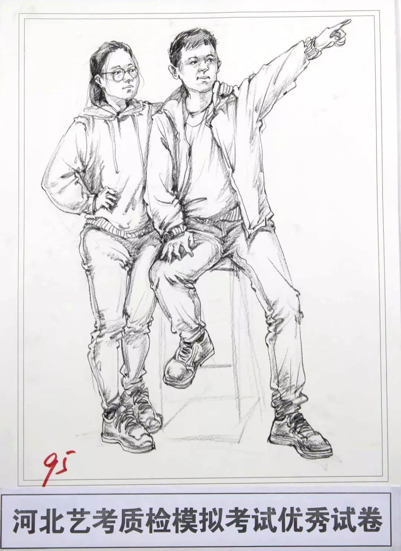 河北艺考二模高分卷精选集——速写高分卷,广州画室     07