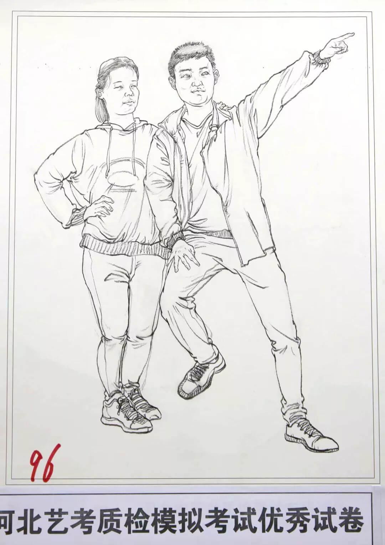 河北艺考二模高分卷精选集——速写高分卷,广州画室     09