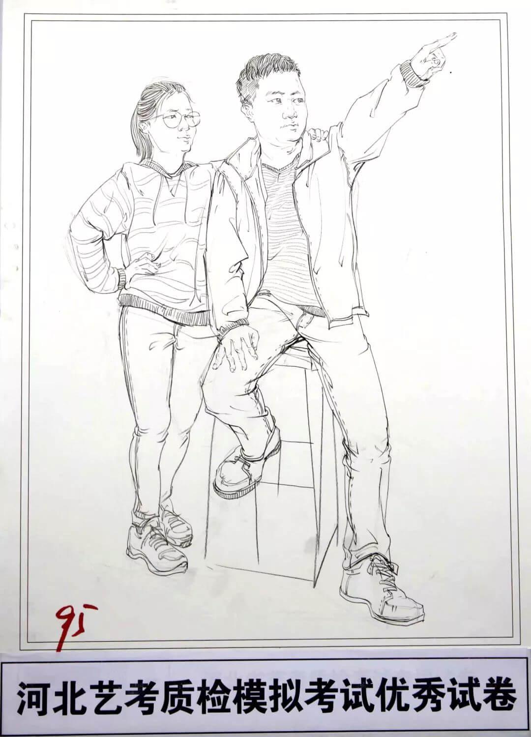河北艺考二模高分卷精选集——速写高分卷,广州画室     11