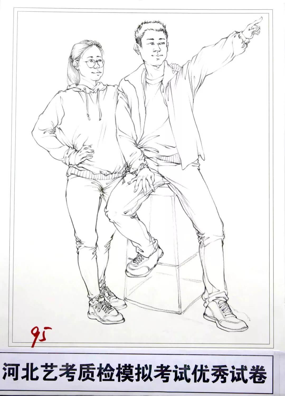 河北艺考二模高分卷精选集——速写高分卷,广州画室     17
