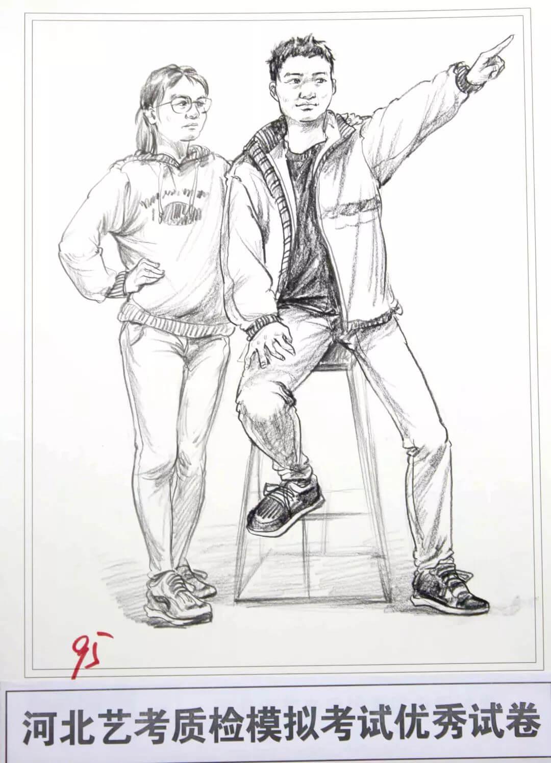 河北艺考二模高分卷精选集——速写高分卷,广州画室     19