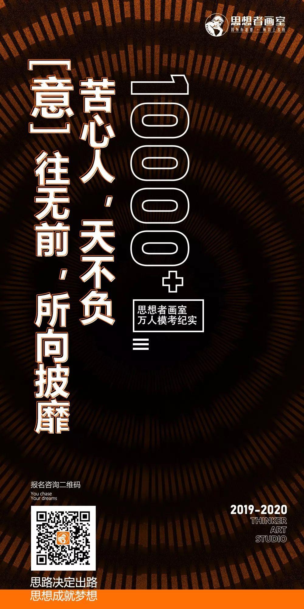 【思想者】万人模拟联考直击,北京画室,北京美术培训    01