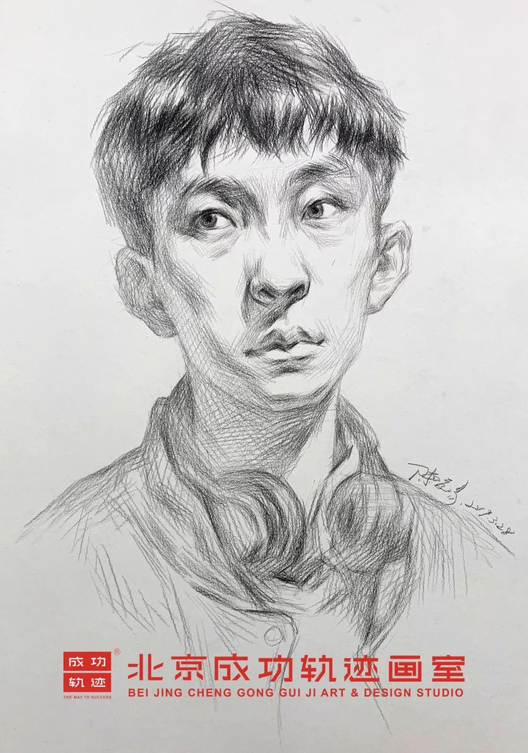 【成功轨迹直播课堂】带你解密联考素描头像,北京画室,北京美术培训    05