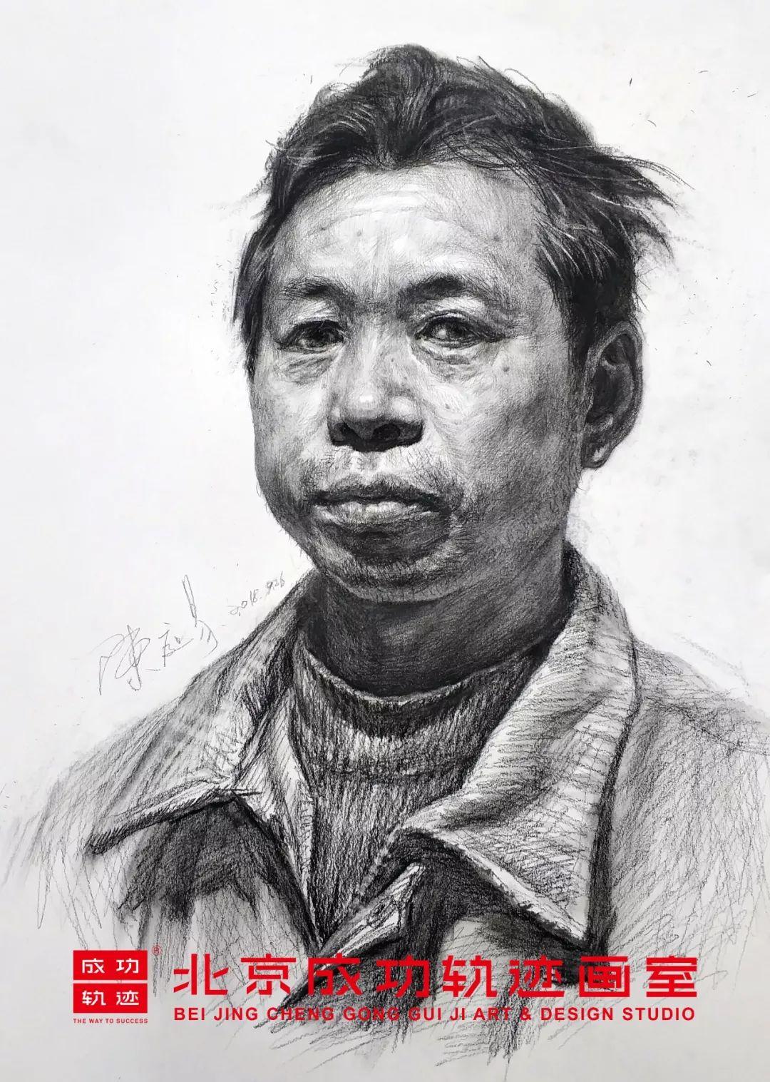 【成功轨迹直播课堂】带你解密联考素描头像,北京画室,北京美术培训    08