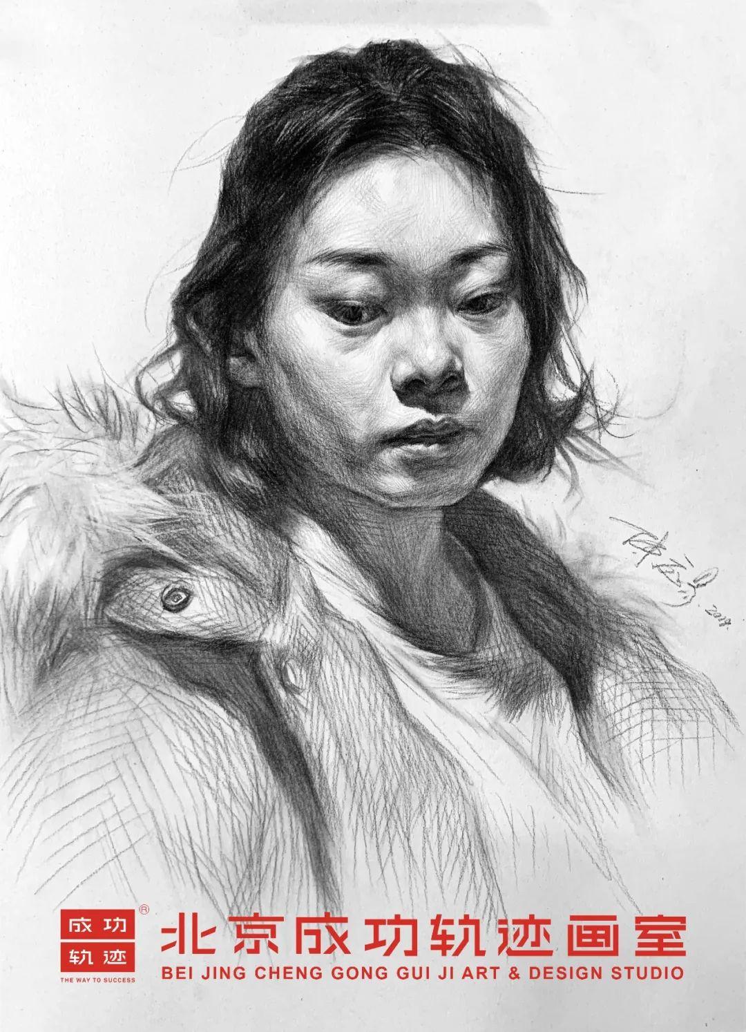 【成功轨迹直播课堂】带你解密联考素描头像,北京画室,北京美术培训    09