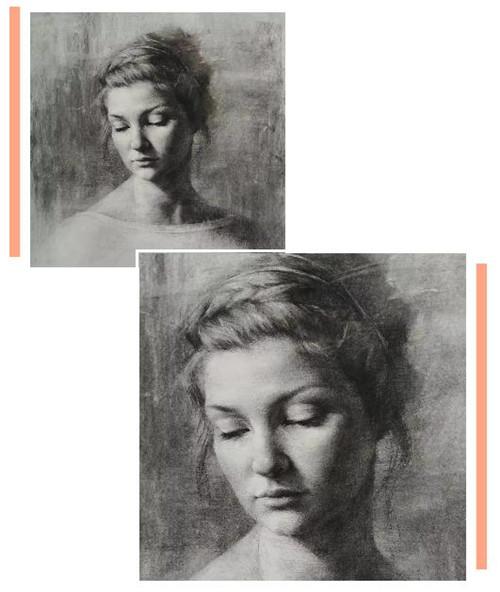 画素描头像,北京画室,北京美术培训,北京素描培训     03