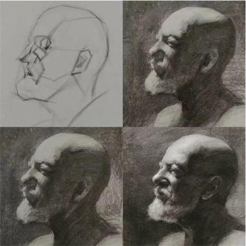 画素描头像,北京画室,北京美术培训,北京素描培训     05
