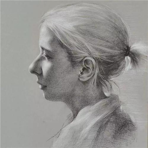 画素描头像,北京画室,北京美术培训,北京素描培训     10
