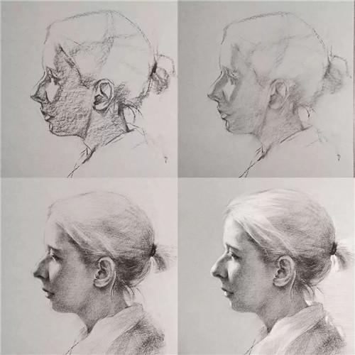 画素描头像,北京画室,北京美术培训,北京素描培训     09