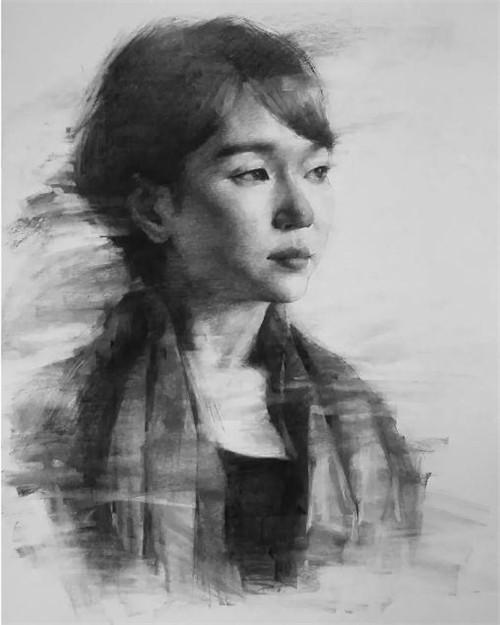 画素描头像,北京画室,北京美术培训,北京素描培训     18