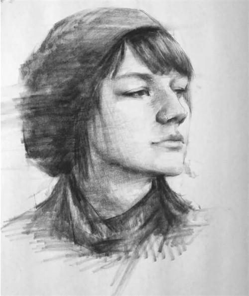 画素描头像,北京画室,北京美术培训,北京素描培训     13