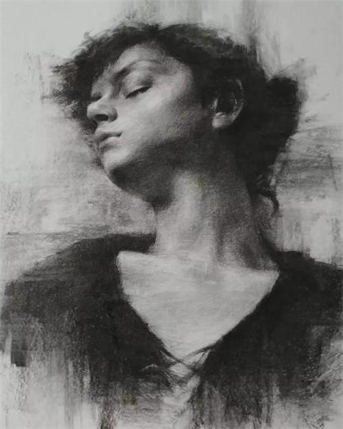 画素描头像,北京画室,北京美术培训,北京素描培训     20