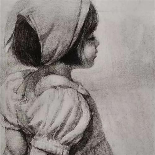 画素描头像,北京画室,北京美术培训,北京素描培训     21