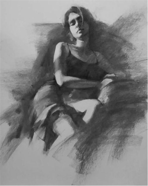画素描头像,北京画室,北京美术培训,北京素描培训     24