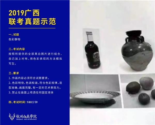 2019广西联考色彩真题示范,杭州白鹿画室,广西美术联考     02