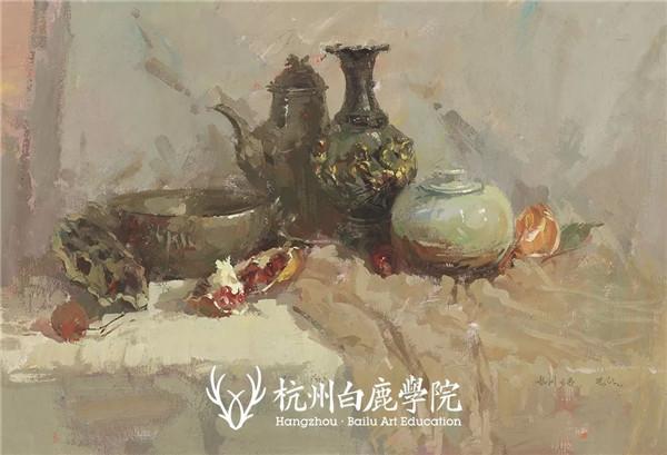 2019广西联考色彩真题示范,杭州白鹿画室,广西美术联考     06