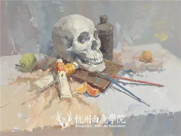 2019广西联考色彩真题示范,杭州白鹿画室,广西美术联考     08