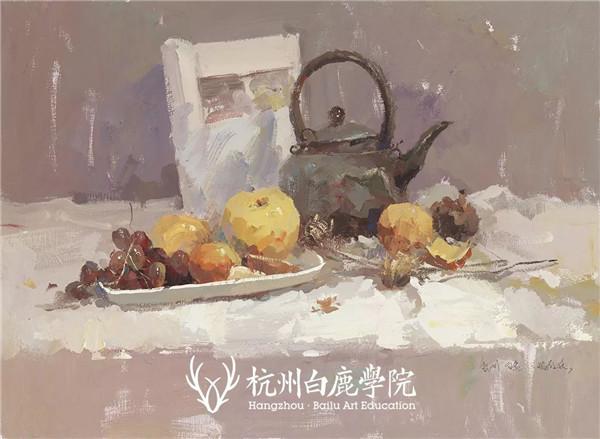 2019广西联考色彩真题示范,杭州白鹿画室,广西美术联考     09