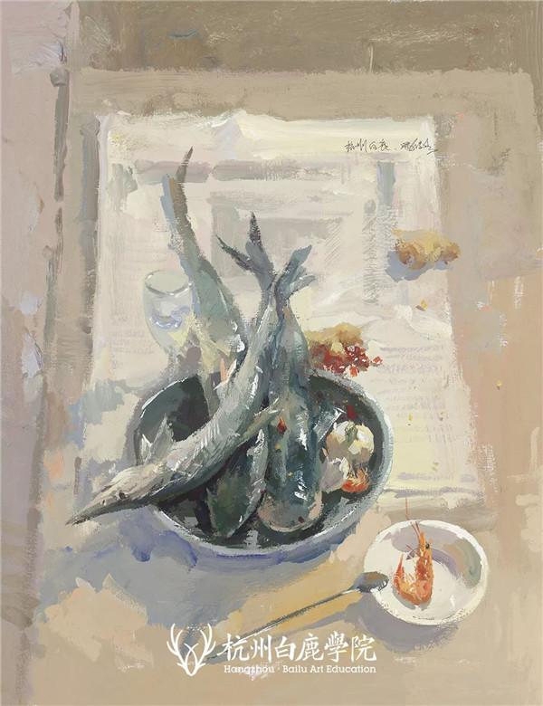 2019广西联考色彩真题示范,杭州白鹿画室,广西美术联考     14