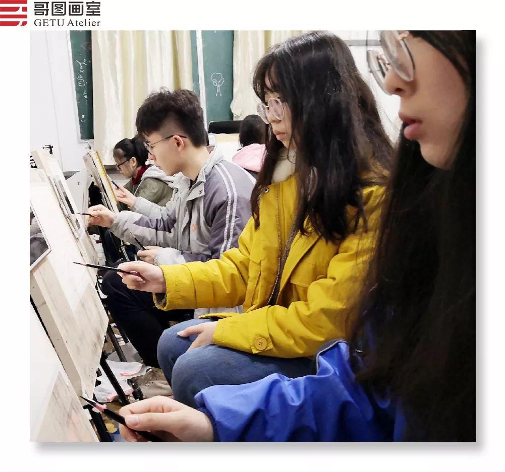 武汉哥图画室学子全力备战统考,武汉画室,美术统考     06