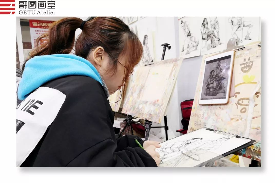 武汉哥图画室学子全力备战统考,武汉画室,美术统考     11