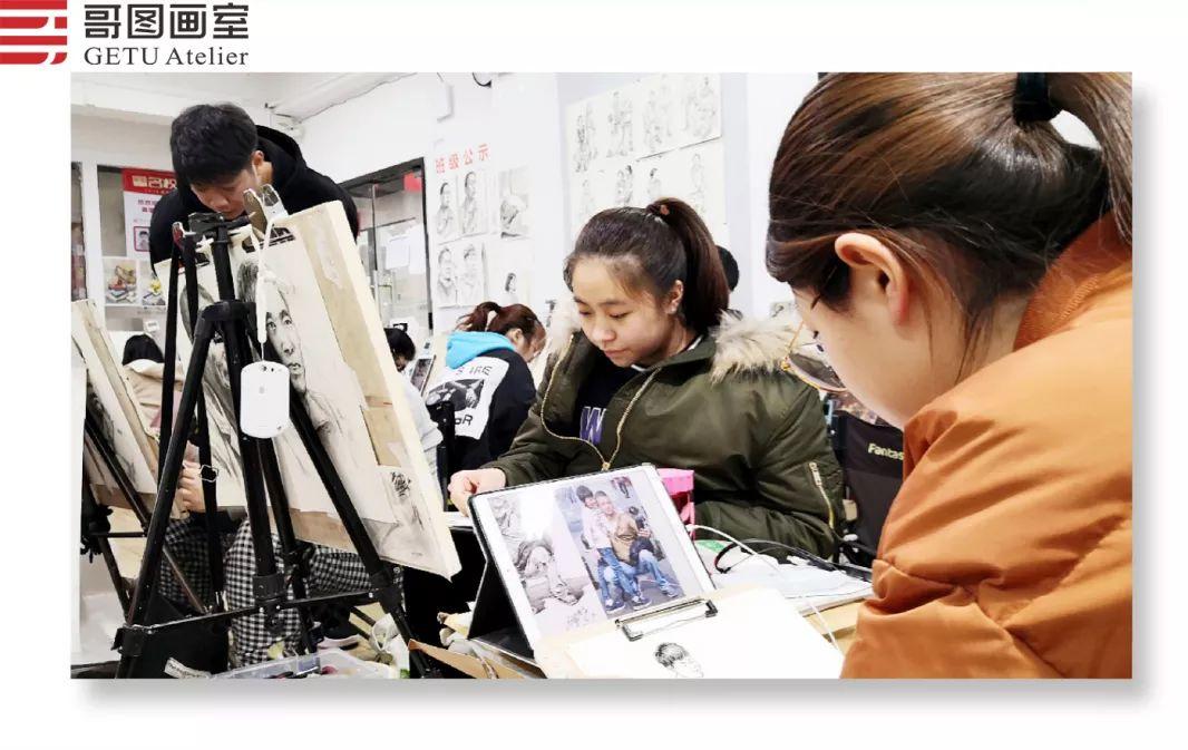 武汉哥图画室学子全力备战统考,武汉画室,美术统考     12