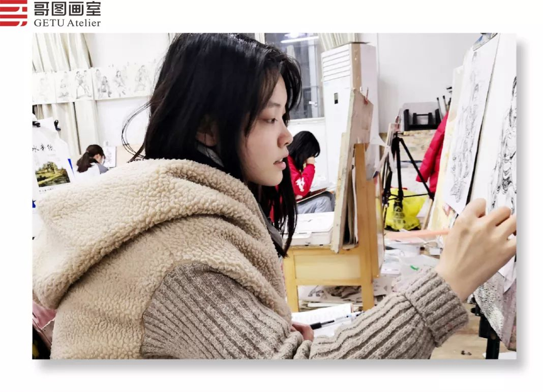 武汉哥图画室学子全力备战统考,武汉画室,美术统考     14