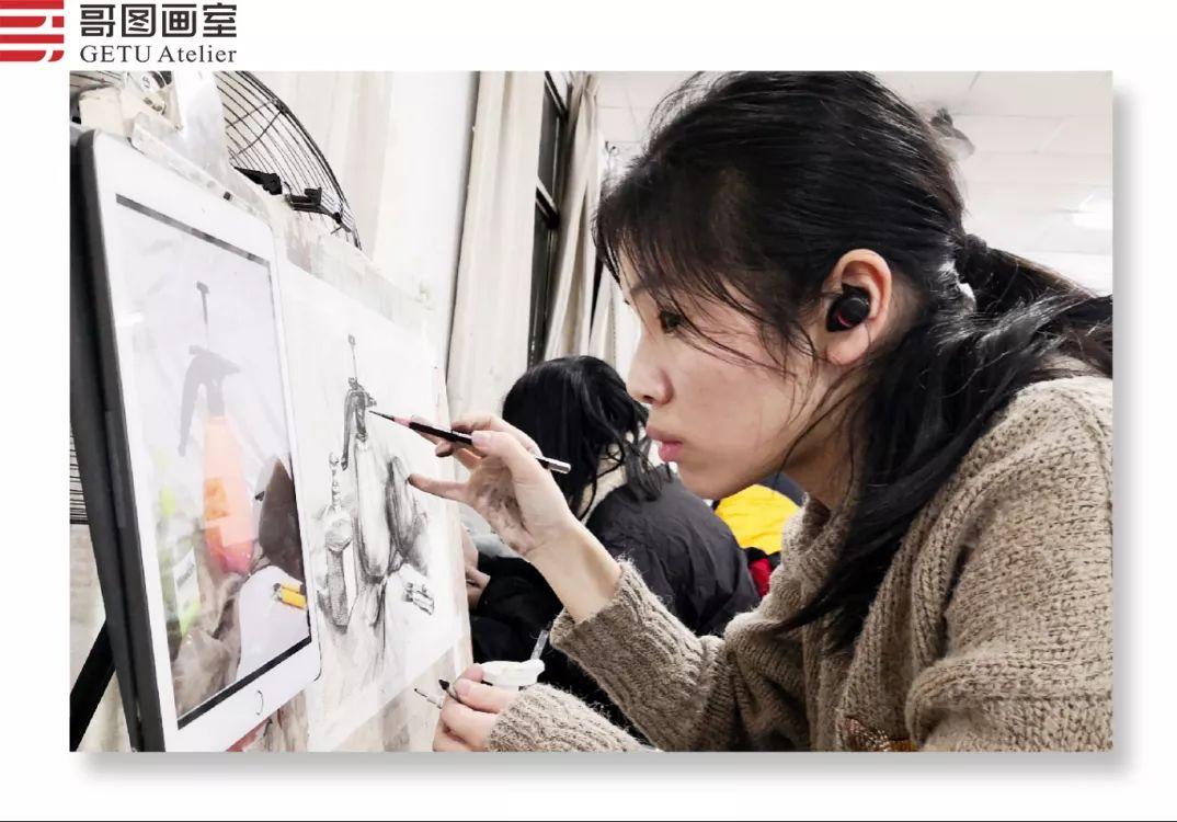 武汉哥图画室学子全力备战统考,武汉画室,美术统考     17