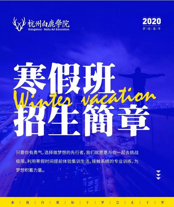 2020杭州白鹿学院寒假班招生简章 ,杭州美术寒假班,杭州美术招生简章    04