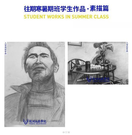 2020杭州白鹿学院寒假班招生简章 ,杭州美术寒假班,杭州美术招生简章    15