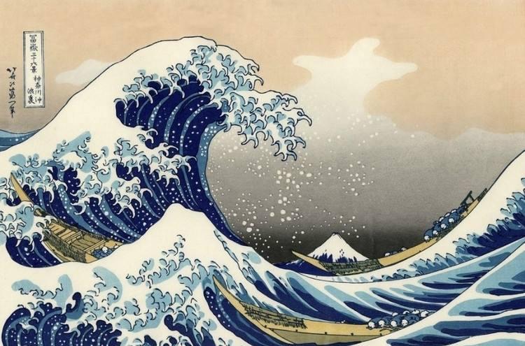 神奈川冲浪里,著名画
