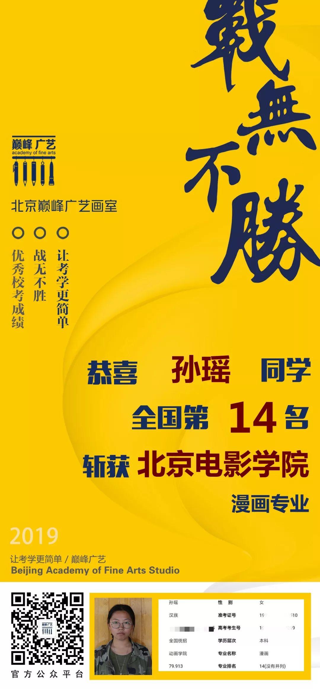 中国传媒大学,北京电影学院,中央戏剧学院,北京巅峰广艺画室       38