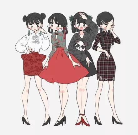 成都画室:动漫人物的各种穿衣风格,每一套都想拥有吧!
