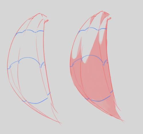 掌握这三个要素,轻松画好二次元人物头发14