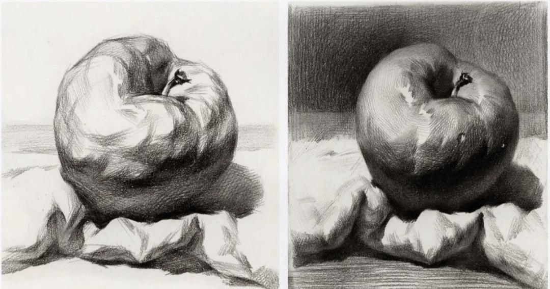 素描蘋果畫來畫去也就這樣?不如試著從結構上找突破!3