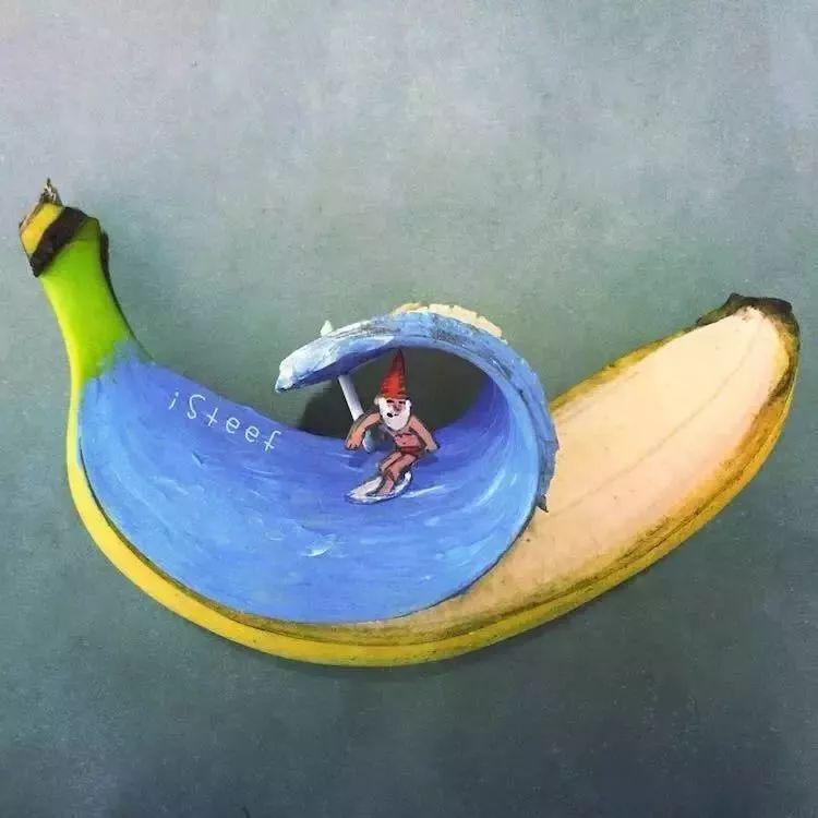 荷兰艺术家Stephan Brusche香蕉雕刻作品