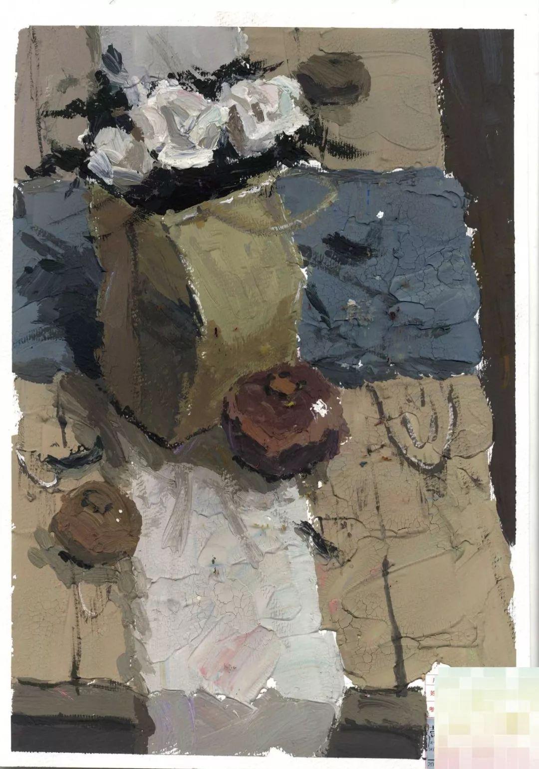 广东省2019届高考美术第一次模拟考试色彩高分卷89分