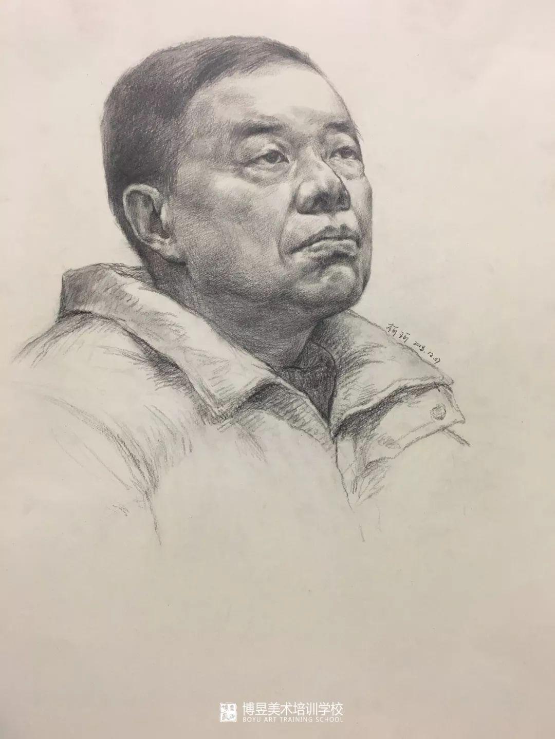 湖北博昱画室 · 洪山博昱三美造型班统考后学生素描写生作品